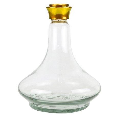 Vaso para narguile Future - Dourado- Transparente - Liso
