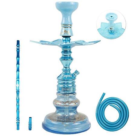 Narguile Completo Empire Hookah King Pequeno- Azul Bebe