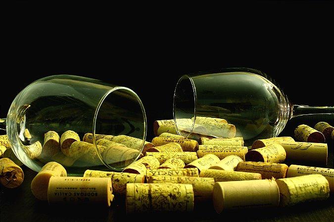 Quadro Decorativo Poster Taças de Vinho em Canvas