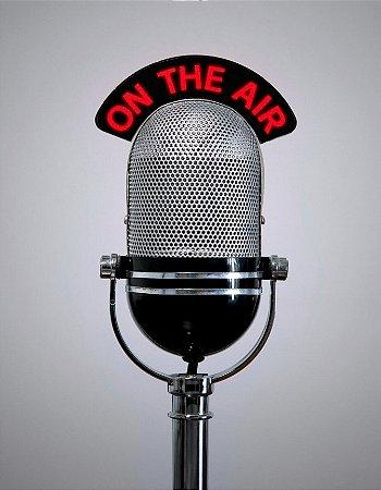 Quadro Decorativo Poster Microfone Vintage
