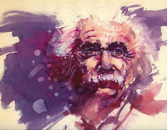 Quadro Decorativo Poster Albert Einstein