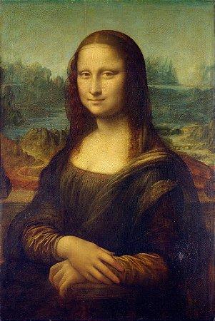 Quadro Decorativo Poster Mona Lisa