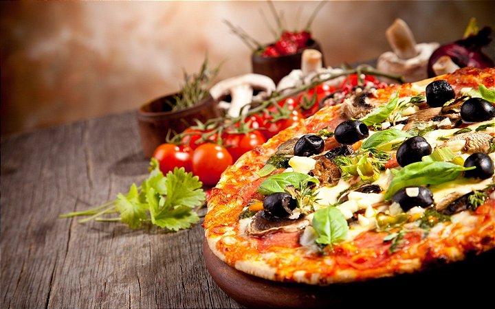Quadro Decorativo Poster Pizza Ingredientes