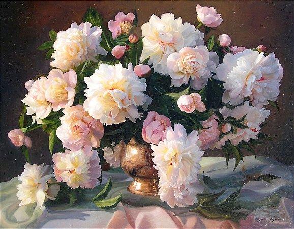 Quadro Decorativo Poster Pintura de Flores