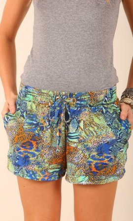 SHORTS BOXER ESTAMPADO FLORESTA