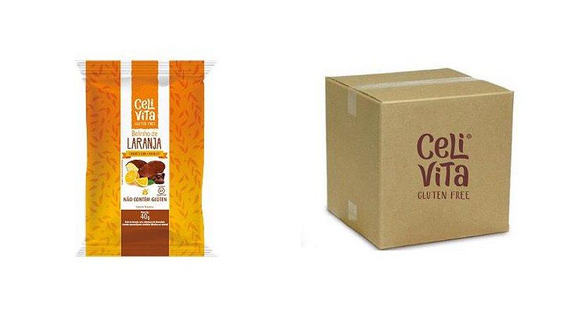 CAIXA COM BOLINHOS DE LARANJA COBERTO COM CHOCOLATE 40g