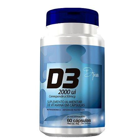 D3 2000 UI Suplemento Vitamínico - D'poan - 60 Cápsulas - 8AF8D4NKX