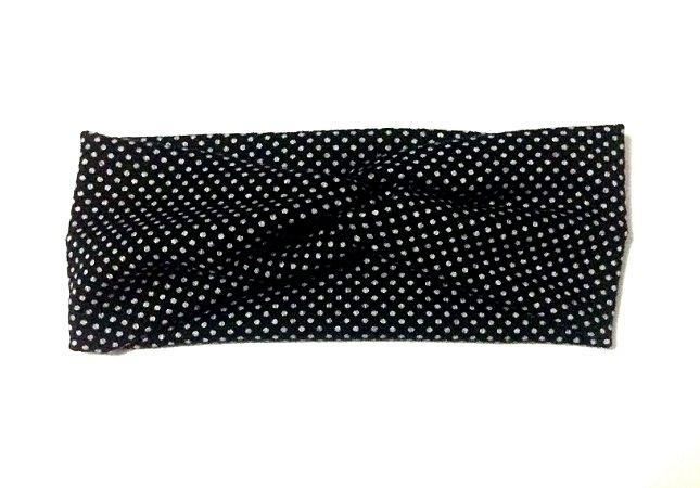 Headband/faixa/turbante poá