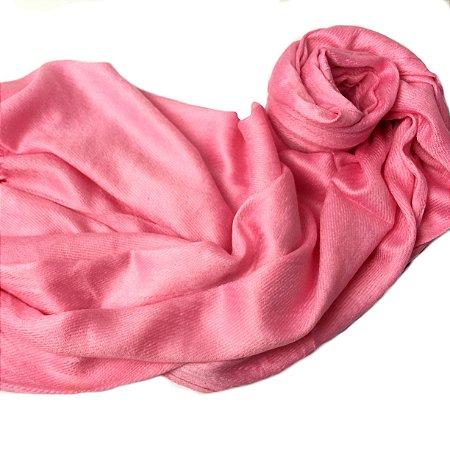 Pashmina lisa rosa