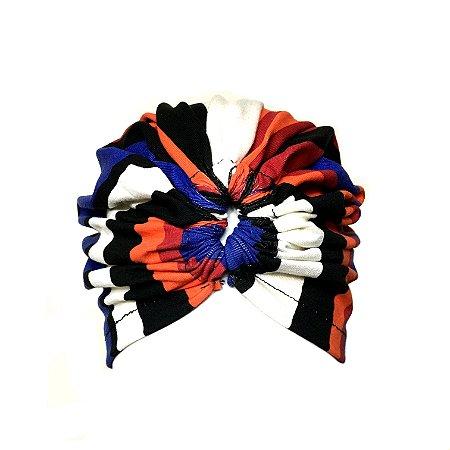 Turbante listrado mix de cores