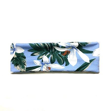 Headband/faixa/turbante floral azul
