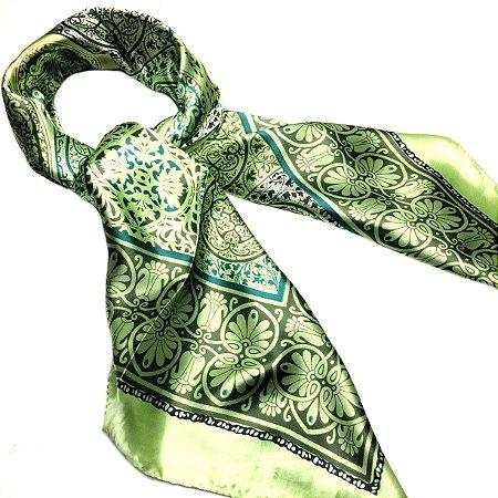 Lenço arabescos verde