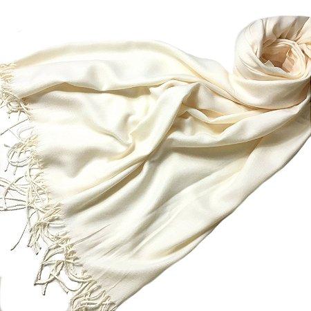 Pashmina padronagem cashmere off-white