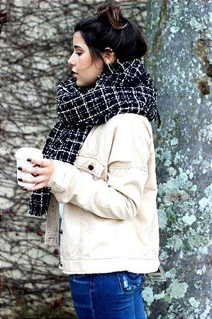 Pashmina tweed  - preta