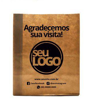 Saco Kraft Personalizada 32x14x40