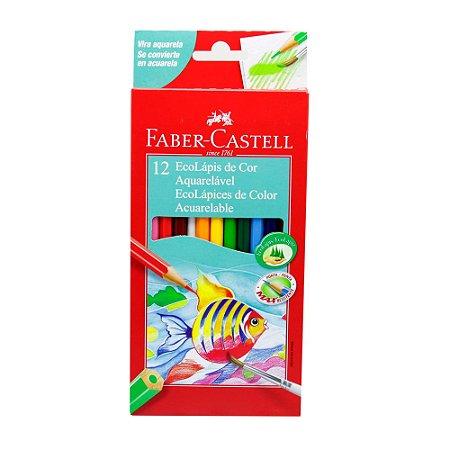 Lápis De Cor Aquarela Faber-castell -12 Cores