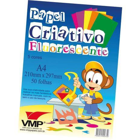 Bloco Para Educacao Artistica Fluorescente A4 50Folhas 90g V.M.P