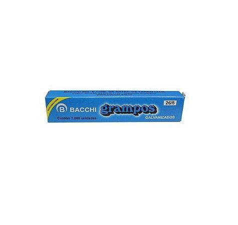 Grampo 26/6 Galvanizado 1000 Grampos - Bacchi