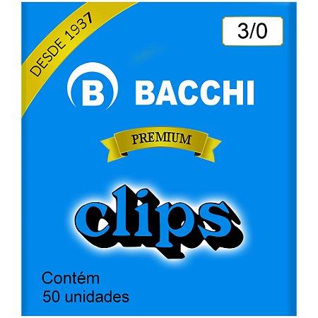Clips Aço Galvanizado 3/0 500g. Cx C/50 unidades - Bacchi - Premium