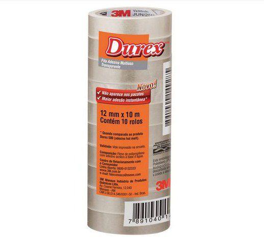 Fita adesiva Durex Transparente 12mmx10m.