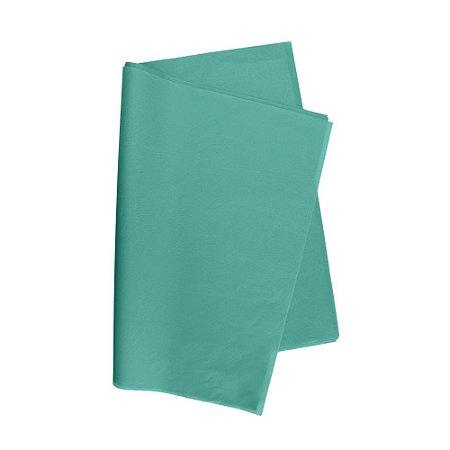 Papel De Seda Azul Tiffany 48x60cm 20g Pacote C/ 100 Unidades V.M.P