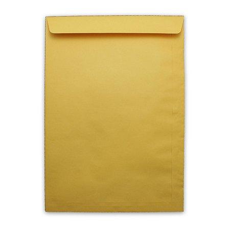 Envelope Saco de Papel Scrity Kraft Ouro 240x340cm 80g