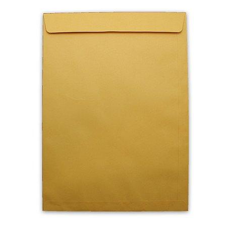 Envelope Saco de Papel Scrity Kraft Ouro 260x360cm 80g