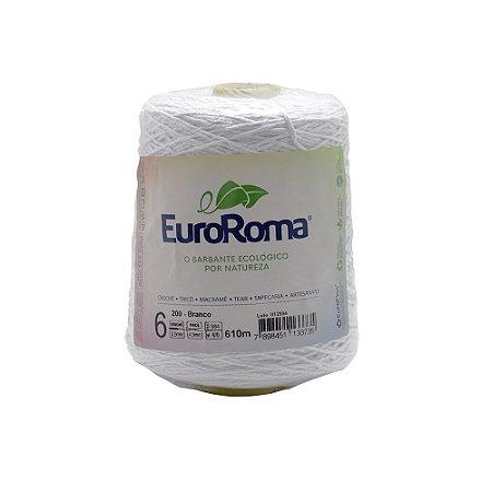 Barbante EuroRoma Branco 600g 4/6 Fios 610m - Nº6