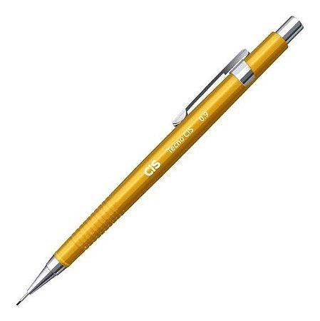 Lapiseira 0,9 mm Tecno Cis C-207 0.9 Amarela - Sertic