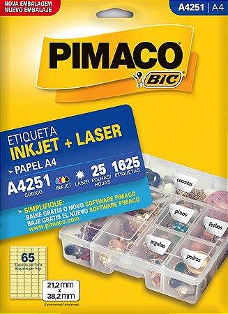 Etiqueta Pimaco BIC A4251 21,2x38,2mm