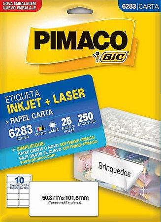 Etiqueta Pimaco BIC 6283 50,8x101,6mm 250 Etq