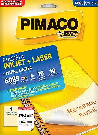 Etiqueta Pimaco BIC 6085 279,4X215,9Mm 10 Etq.