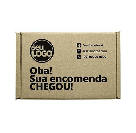 Caixas de Papelão Montável Personalizada para E-commerce 21x17x7 Cm – Personalizamos a Caixa Completa.