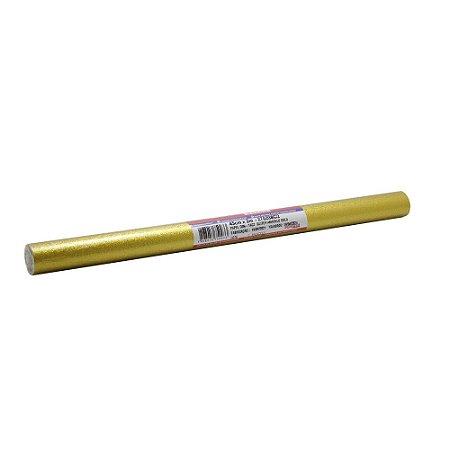 Contact Liso 45cmx2m - Glitter Dourado Plastcover