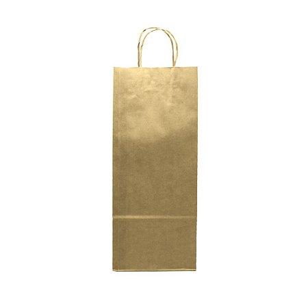 Sacola Kraft Para Vinho/Garrafa 16x38x10 100g