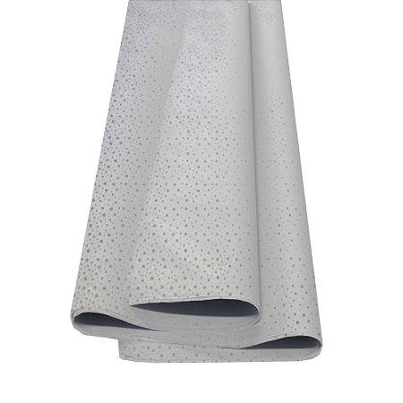 Papel De Seda Fantasia Estrelinhas Prata 48x60cm 20g