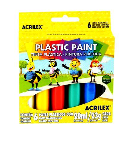 Tinta Plástica 6 Cores 20ml Acrilex