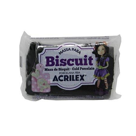Massa de Biscuit Acrilex Preto - 90g