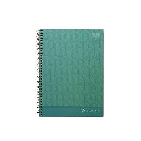 Caderno Especial Organizer Executivo Tilibra - 80fls Verde