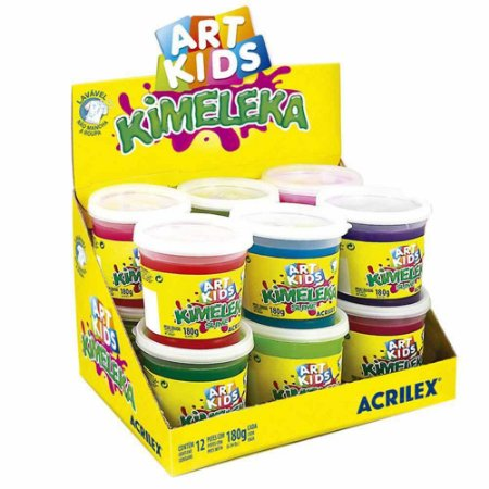Slime Kimeleka Acrilex Art Kids Cores Sortidas - 180g