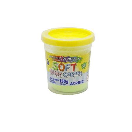 Massa de Modelar Soft Acrilex - Amarelo Bebê 150g