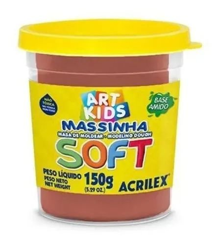 Massa de Modelar Soft Acrilex - Marrom Chocolate 150g