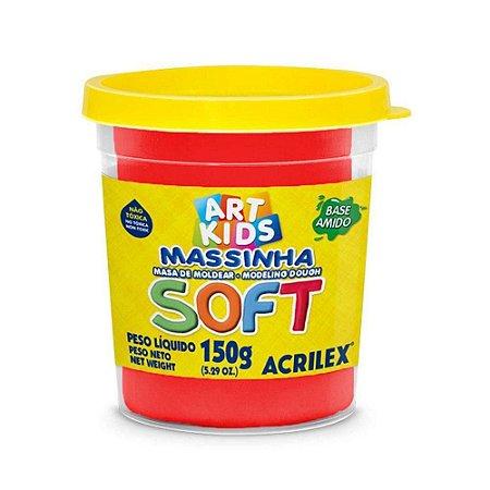 Massa de Modelar Soft Acrilex - Vermelho 150g