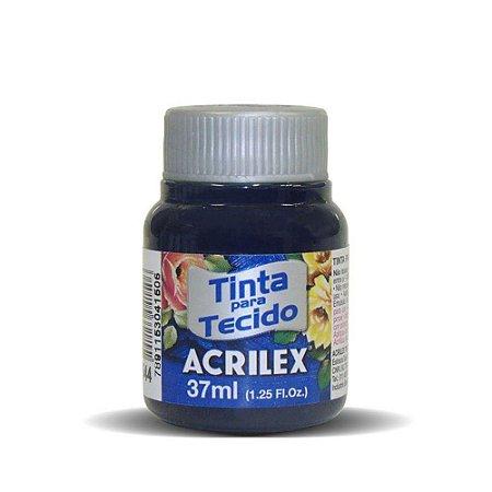 Tinta de Tecido Fosca Acrilex - 37ml Azul Marinho