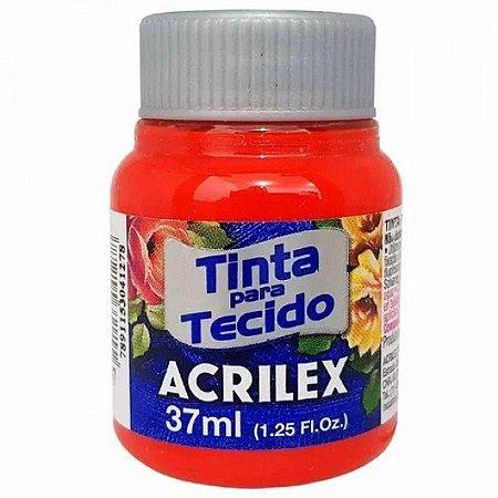 Tinta de Tecido Fosca Acrilex - 37ml Vermelho Fogo