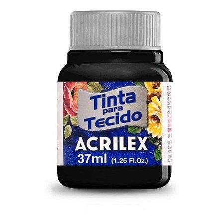 Tinta de Tecido Fosca Acrilex - 37ml Preto