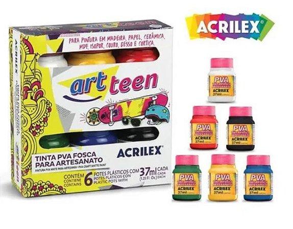Tinta PVA Fosca Arteen Artesanato -  6 cores