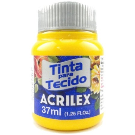 Tinta para Tecido Fosca Acrilex - 37ml Amarelo Ouro