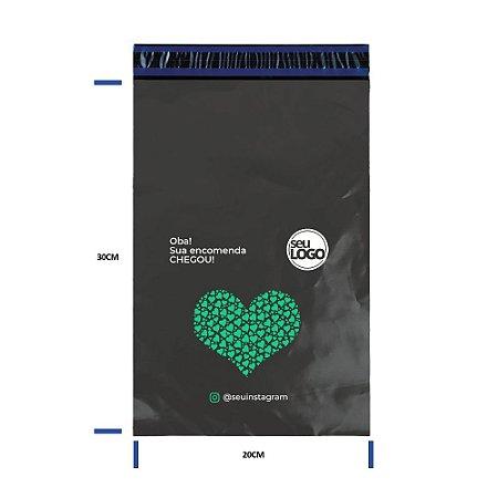 Envelope Cinza Personalizado Com Bolha 20x30 - Seu Logo