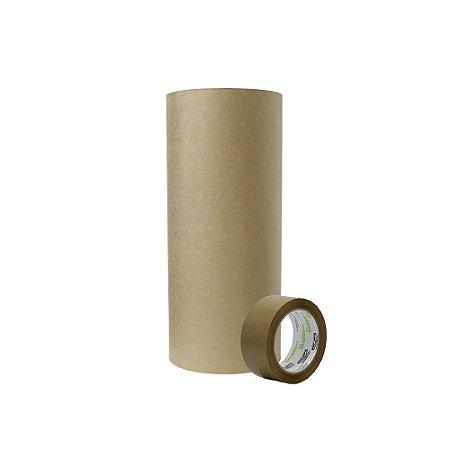 Bobina Papel Semi Kraft 60cm 200m + Fita Adesiva Marrom 48mmx100m  5 Uni